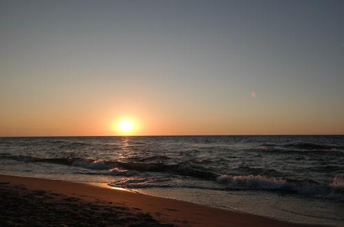 Solnedgång i Pobierowo.