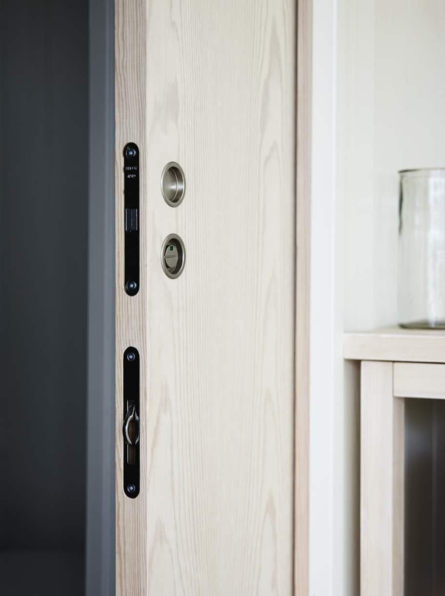<strong>Smart dörr</strong>. Skjutdörrar som tar minimalt med plats är det bästa när ytan är begränsad.