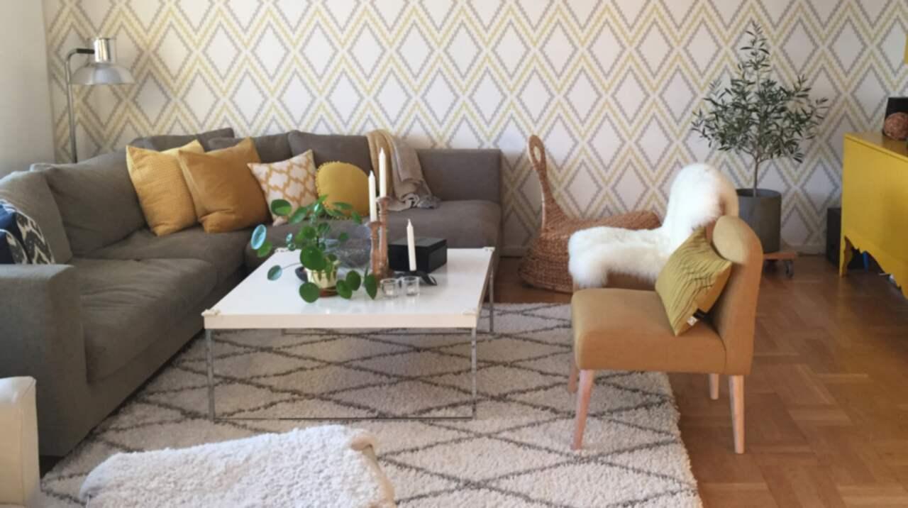 placering matta vardagsrum