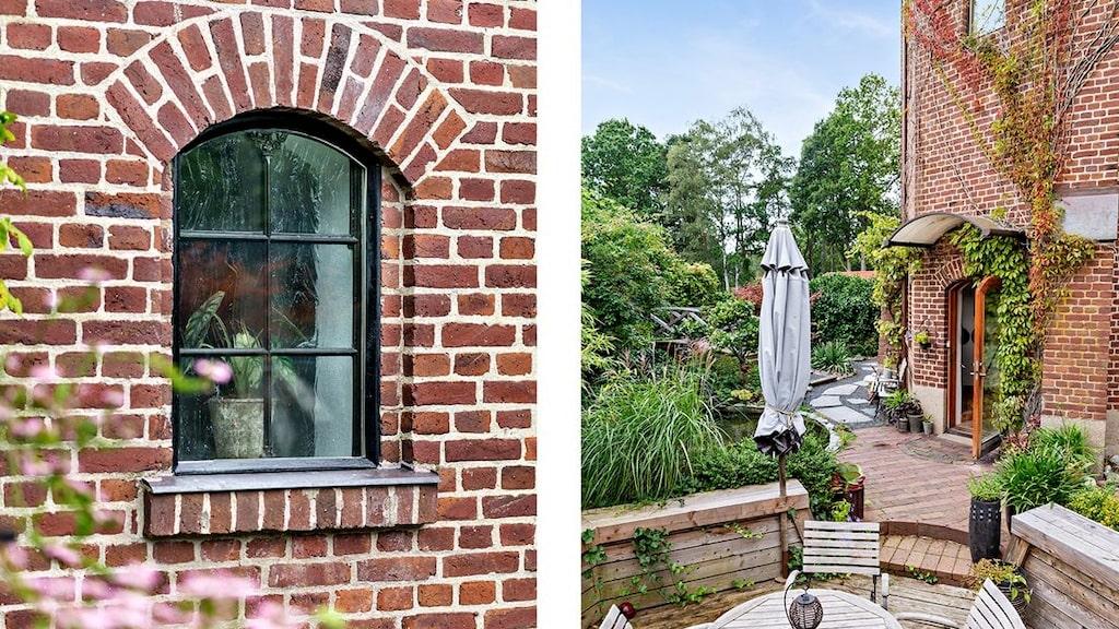 Vattentornet i Vejbystrand byggdes 1928. Nu har det blivit en riktigt häftig bostad med en magiskt vacker trädgård.