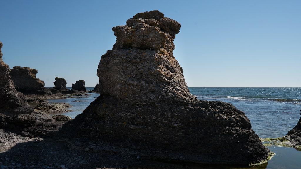 Holmhällar på Gotland.