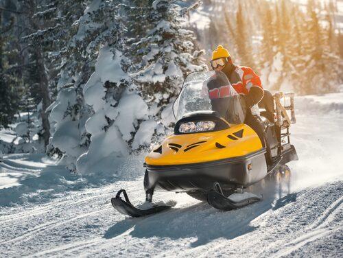 Missa inte ett äventyr till skogs med snöskoter.