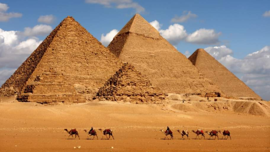 Pyramiderna, Egypten.