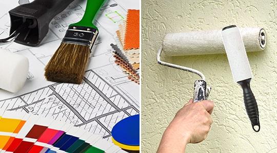 Ett smart tips för att undvika att få damm och ludd i rollern. Rulla en klädroller över målarrollern innan du sätter i gång!