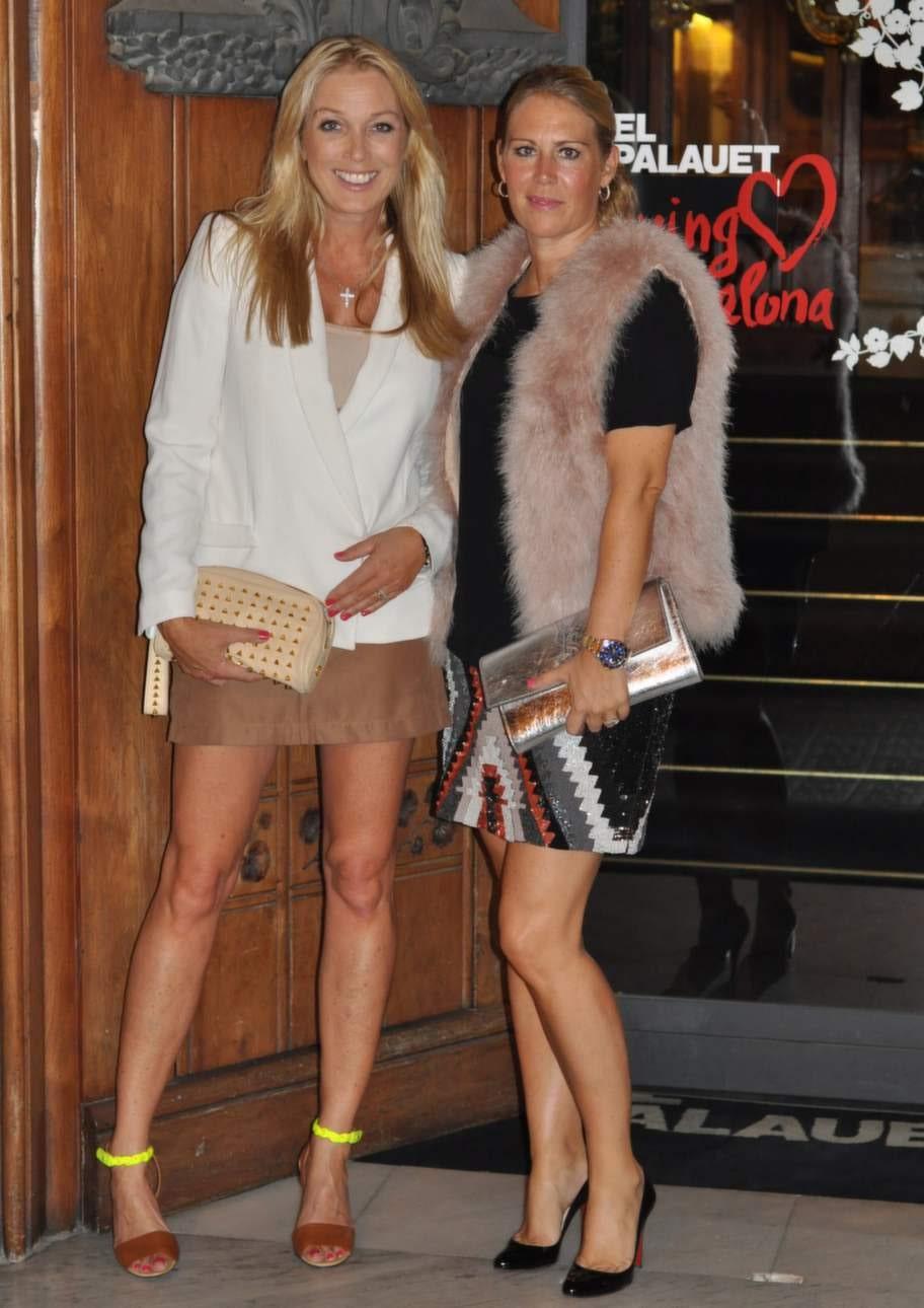 Linda Lindorff med goda vännen Susanne Histrup.