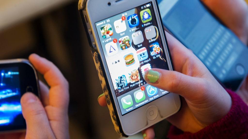 I dag har 88 procent av tioåringarna en egen mobiltelefon.