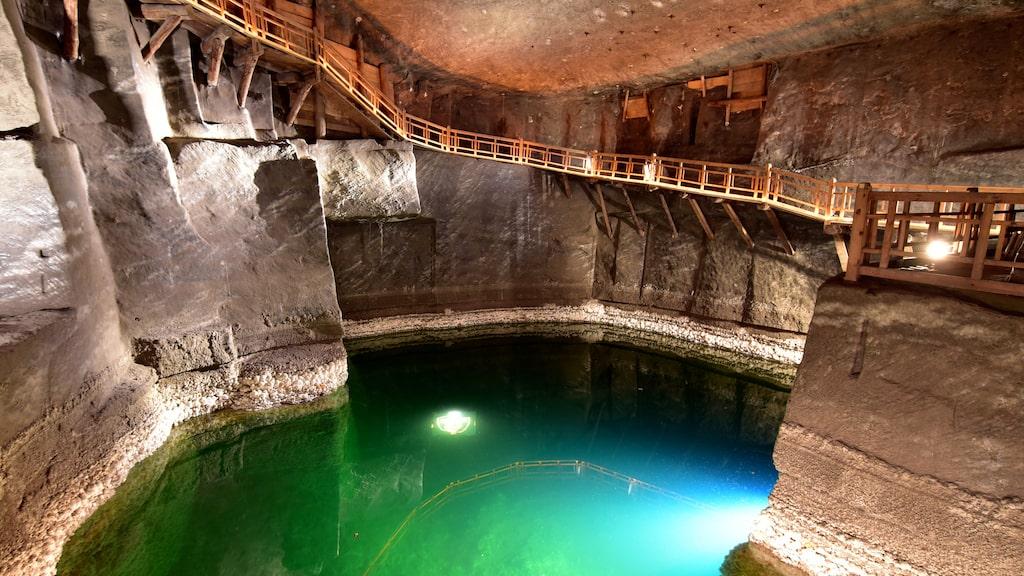 Den spektakulära och mycket populära saltgruvan i Kraków.