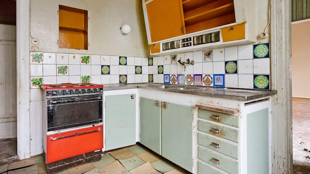 Allt i huset är original från början av 1900-talet, förutom köket som sattes in på 50-talet.