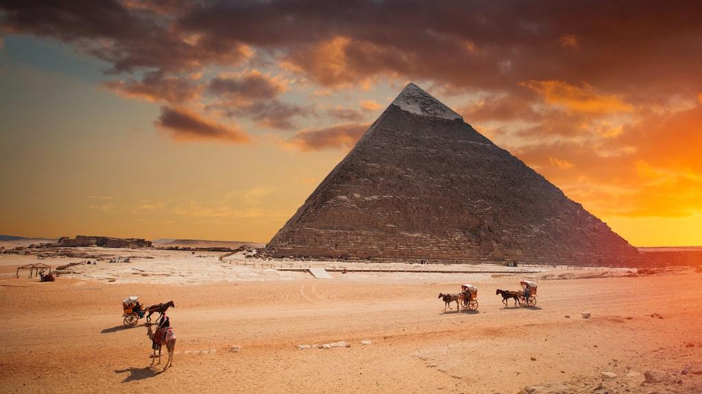 Cheopspyramiden i Giza, Egypten.