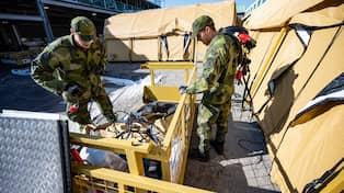 Tältsjukhus byggs med hjälp av militär HD