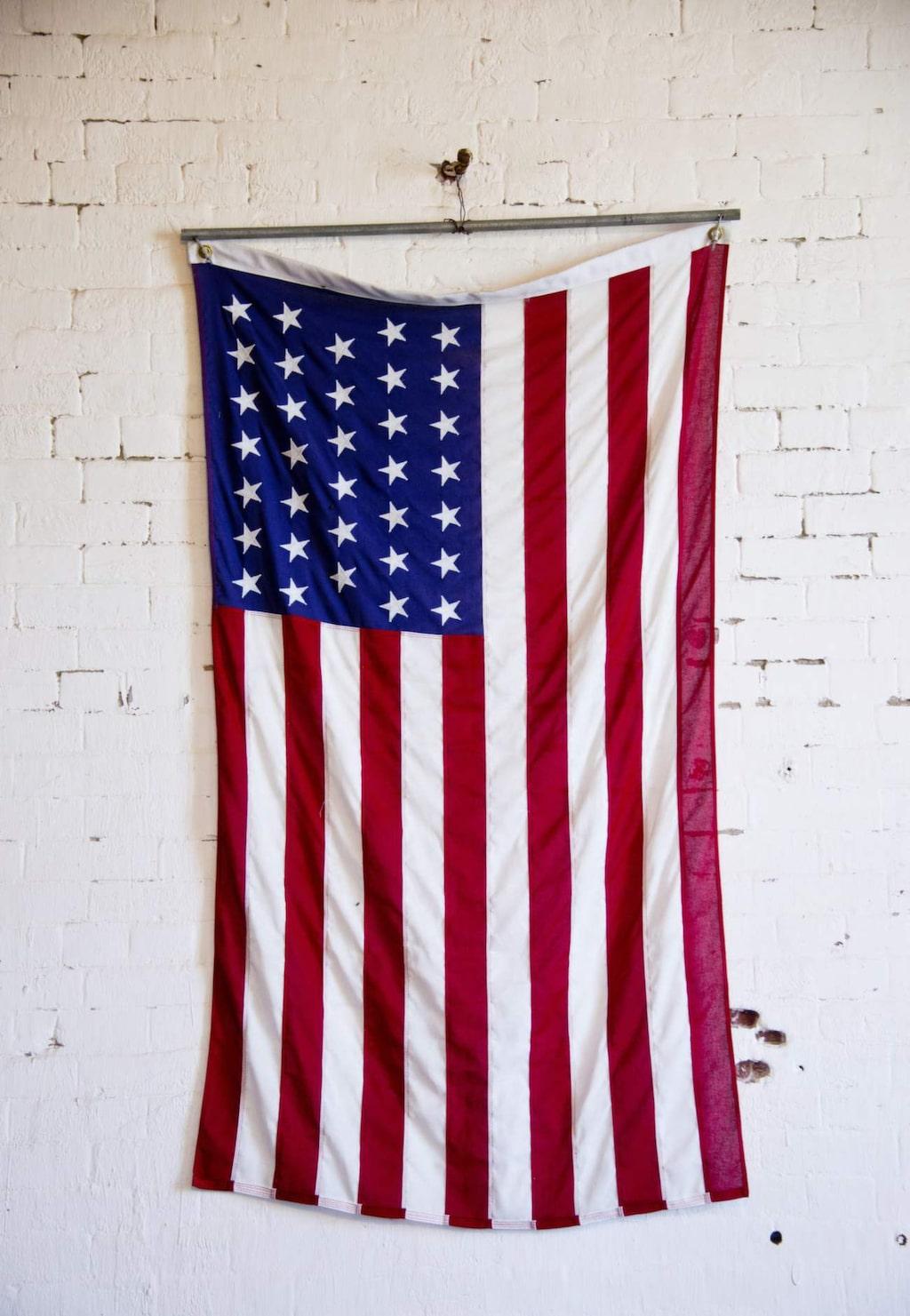 Amerikanska flaggan på Alcatraz.