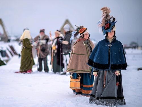 Juligt dammode anno medeltida Visby.