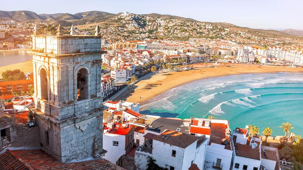 I mysiga Valencia blandas cityliv, strandliv, gammalt och nytt.