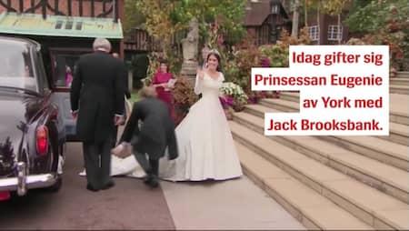 Hattkaos på prinsessan Eugenies bröllop
