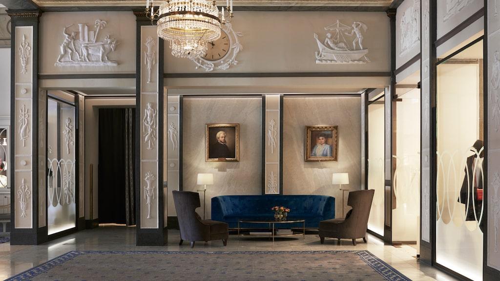Anrikt på Grand Hôtel i Stockholm.