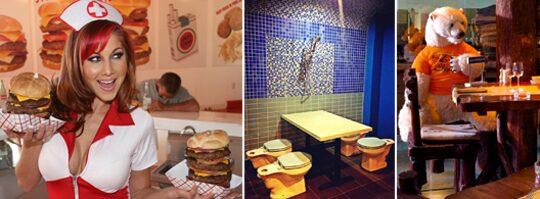 10 galna restauranger världen över.