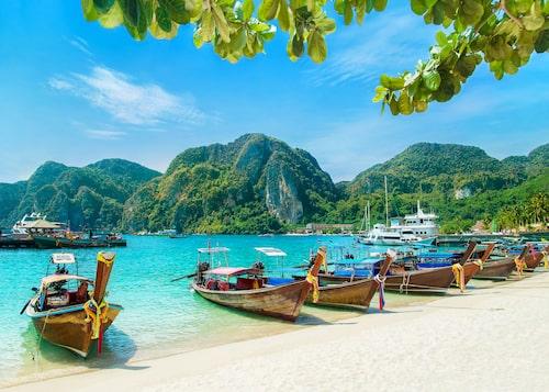 Tonsai Beach på Koh Phi phi.