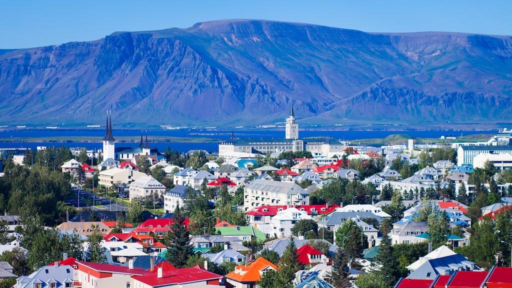 Reykjavik ser nästan ut att bestå av leksakshus med sina glada färger.