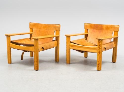 """Karin Mobring. Fåtöljer, ett par, """"Natura"""", IKEA, 1970-tal. Utropspris 6000kr."""