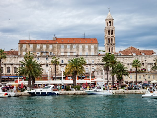 Strandpromenaden Riva i Split.