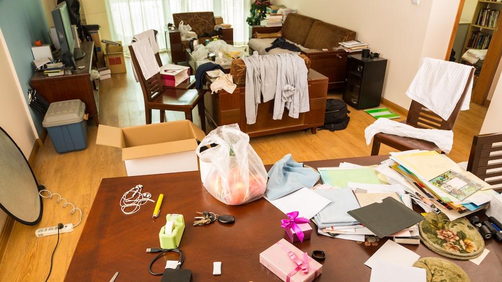 Ett ostädat och stökigt hem skapar inre stress, mer än du anar...