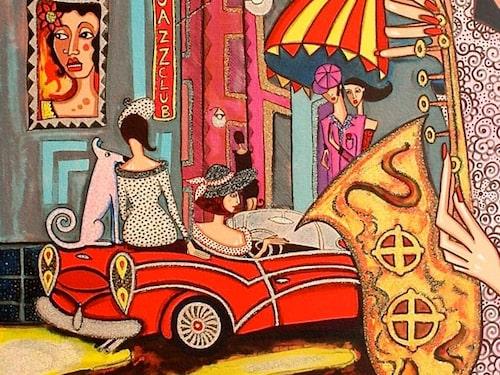 """""""Nattliv"""" av Angelica Wiik."""