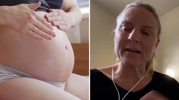 sen mens utan att vara gravid