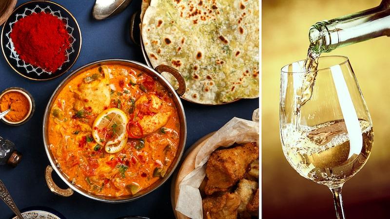 Många väljer spontant öl till indisk mat, men visst finns det också viner som passar perfekt.