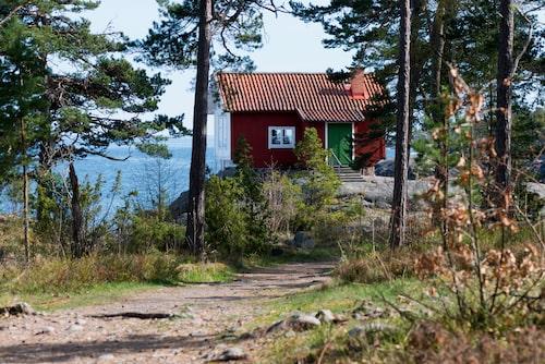 Albert Engströms stuga i Grisslehamn.