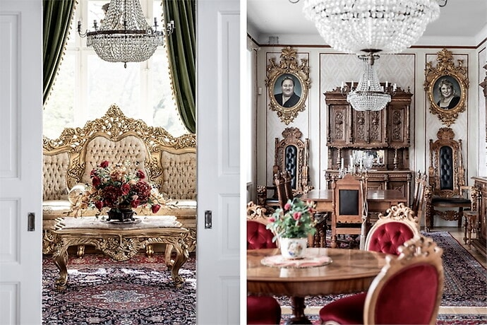 Köparen kan även köpa till möblerna.