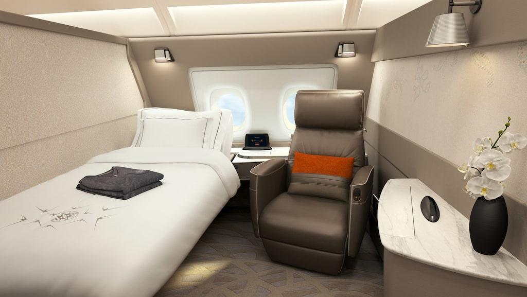 Mest uppmärksamhet väcker flygbolagets sviter i förstaklass på A380.