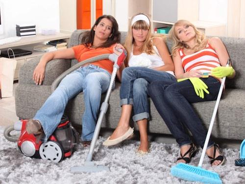 Städa tillsammans – bättre än att städa ensam, även pauserna blir trevligare...