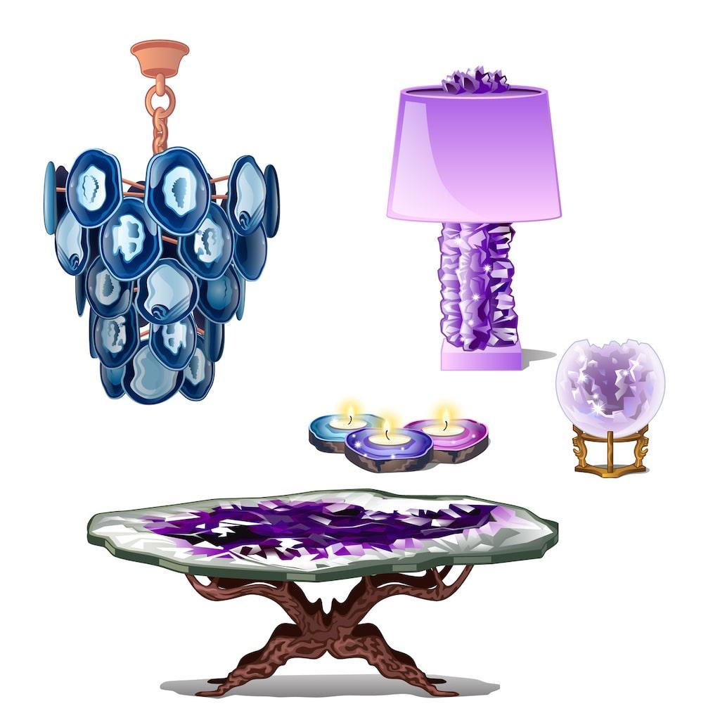 Enstaka kristalldetaljer kan verkligen göra ett lyft för hemmet.