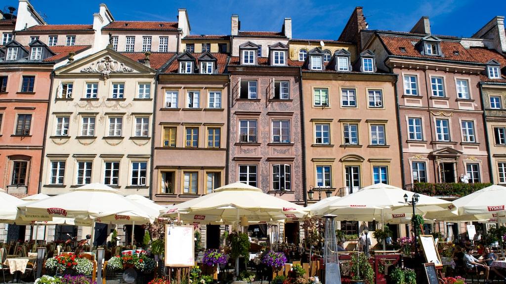 Torget Rynek Starego Miasta i Gamla stan är Warszawas hjärta.