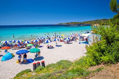 Spiaggia delle Bombarde, strax utanför Alghero.