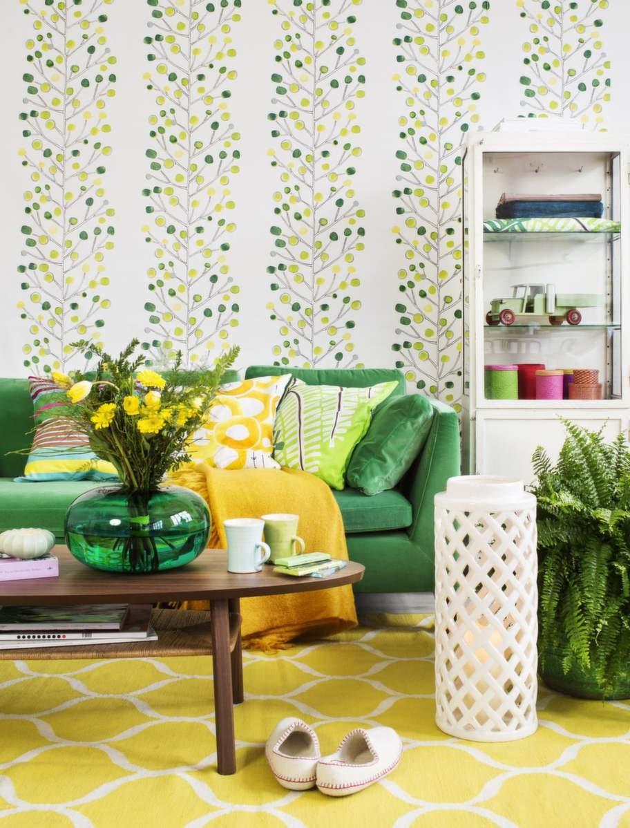 Piggt med gult och grönt tillsammans.