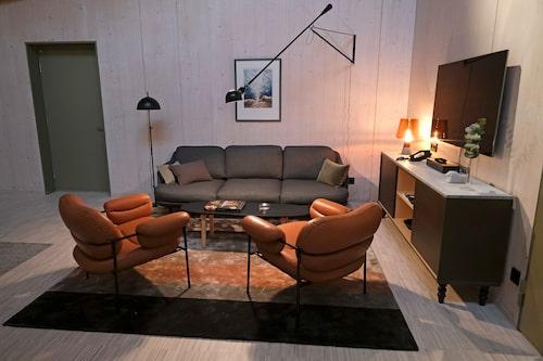 Gästrummen är inspirerade av en trästuga, berättar Mark Humphreys på Tengbom arkitekter.