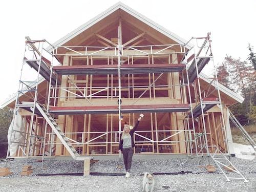 Huset kommer att bli 240 kvadratmeter stort.