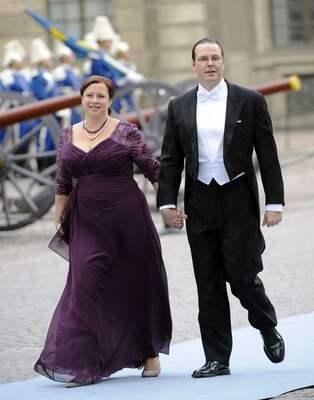 9e0085c3a2c0 Anders Borg (M) kom till kyrkan hand i hand med hustrun Sanna - som han i  intervjuer har sagt står bakom hans framgångar som finansminister.