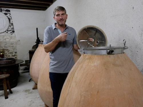 Jean Jaques Bonnet gör sina Muscadet-viner naturnära med vildjäst utan svavel eller tillsatser.