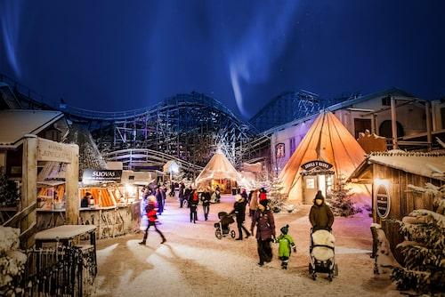 Lysande jul på populära Liseberg.