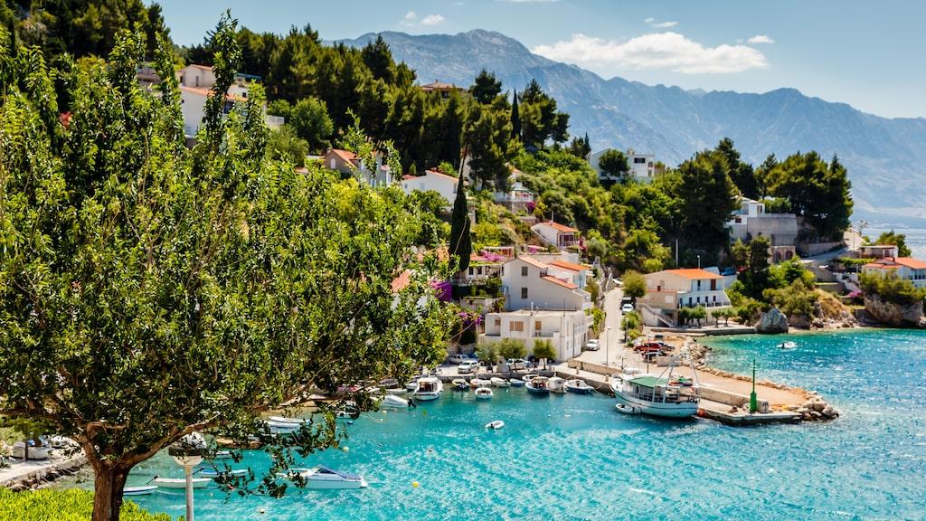 Adriatiska bukten vid Split.