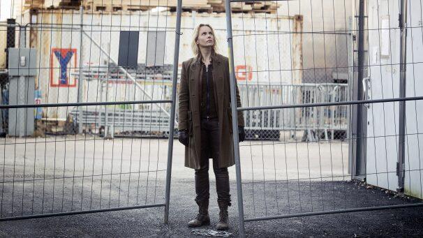 """Sofia Helin spelar polisen Saga Norén i """"Bron""""."""