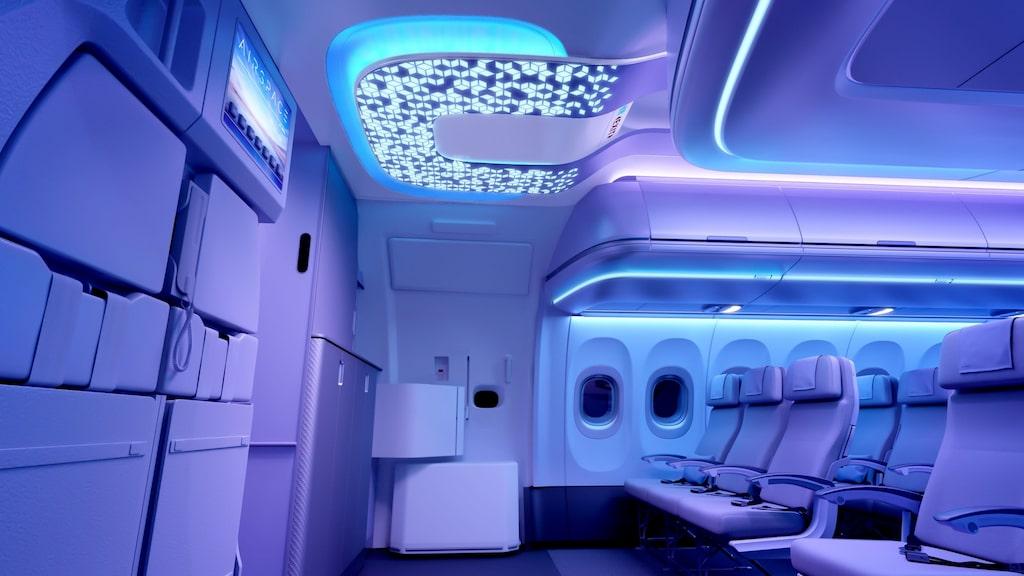 Airbus nya kabin kryllar av sensorer som läser av passagerarna.