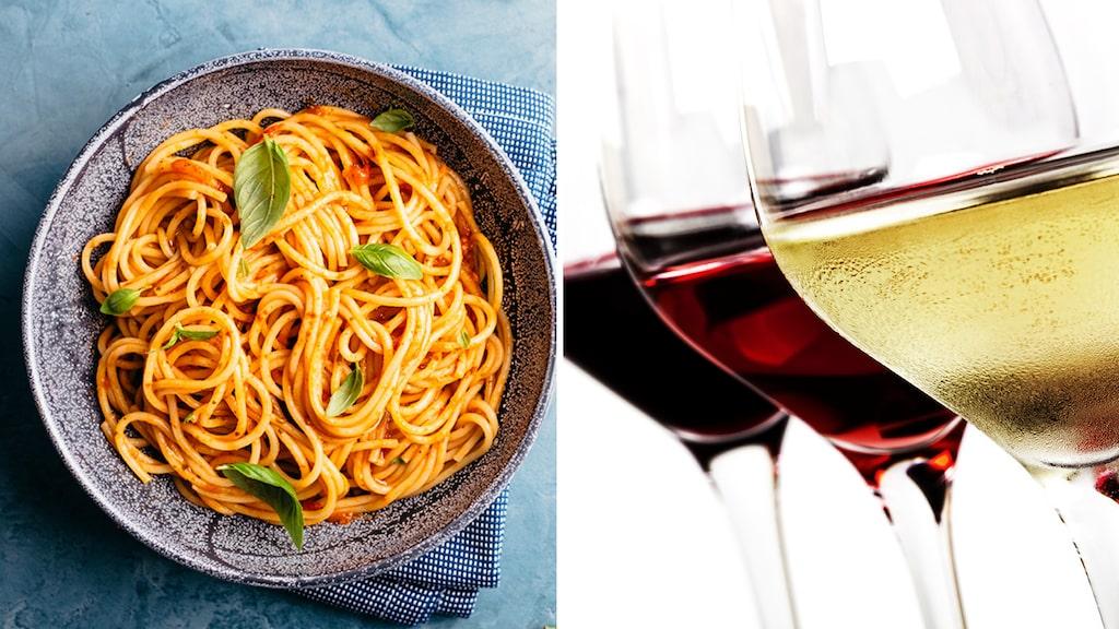 Vitt eller rött till pastan? Utgå ifrån såsen när du väljer vinet, tipsar Allt om Vins Andreas Grube.