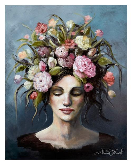 """""""Skingrar tankar"""" av Malin Östlund. Naturen som helande kraft är en ofta återkommande tematik i hennes konst."""