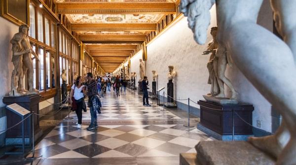 På Uffizierna kan man se många av konsthistoriens klassiker.