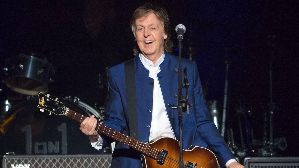 Paul McCartney uppträder i Tampa, Florida, sommaren 2017.