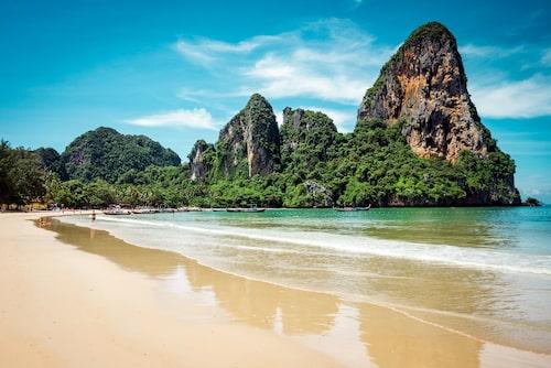 Railey Beach, kanske en av Thailands mest kända stränder.