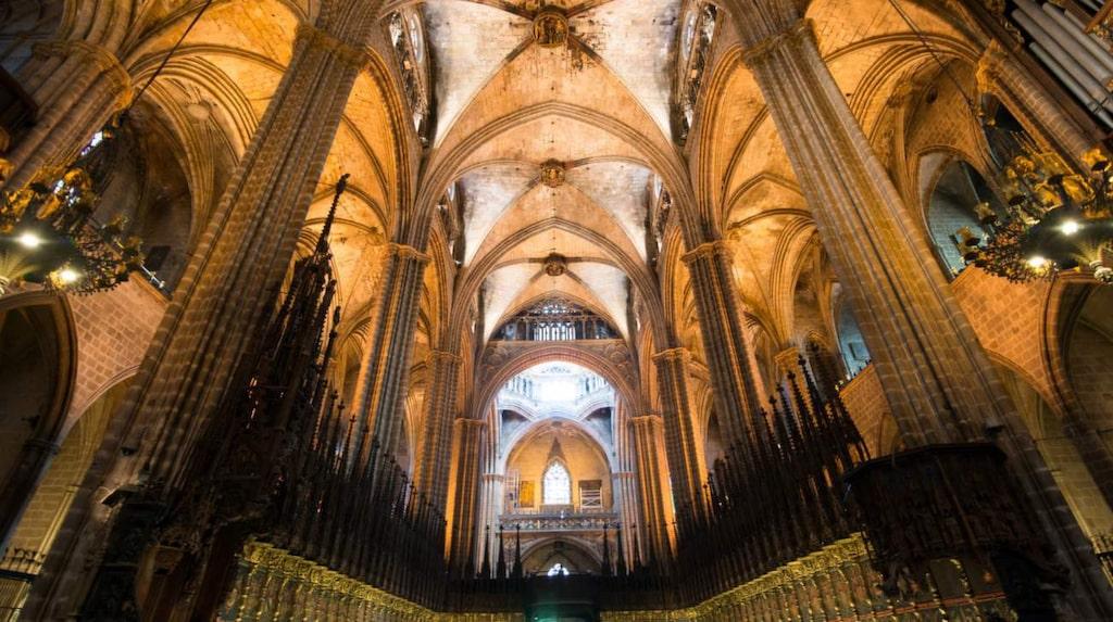 <p>Kyrkan Santa Eulàlias 13 gäss har en symbolisk betydelse.</p>